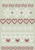 Christmas Valentine's Day winter holidays stitched embroidered white red gray border decorative elements set on light background — Stock Vector
