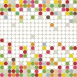 Little colorful dots falling elements geometric seamless pattern on white background — Stock Vector