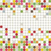 Little colorful dots falling elements geometric seamless pattern on white background — Stockvector