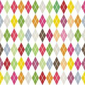 Traditional colorful argyle diamond pattern on white — Stock Vector