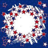 Patriotic american card — Stock Vector