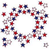 Patriotic american card invitation — Stock Vector