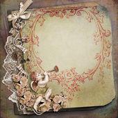 Sfondo vintage con angelo — Foto Stock