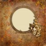 stare złoto ramki wiktoriańskim stylu na tło — Zdjęcie stockowe