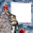 Christmas greeting card — Stock Photo