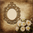 Old frame Victorian style on the vintage background — ストック写真