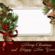 Christmas greeting card — Stock Photo #14703393
