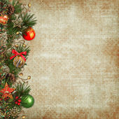 Vintage Christmas background — Stock Photo