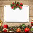 Christmas greeting card — Stock Photo #16308735