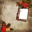 Vintage Christmas background with frame — Stock Photo #17060723