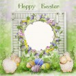 Easter greeting card with space for photo or text — Stock Photo