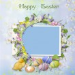 Easter greeting card with frame — Stock Photo