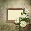Vintage background with frame and roses — Stock Photo #18505317