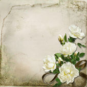 The branch of roses on a vintage background — Stock Photo