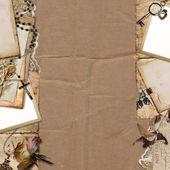 граница с старых документов, фото на фоне старинных — Стоковое фото
