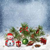 Christmas greeting background — Stock Photo