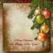 Christmas greeting background — Photo