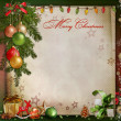 Christmas greeting background — Stock Photo #33540787