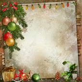 Christmas decoration on a vintage background — Stock Photo