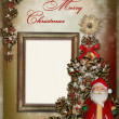 Christmas greeting card with frame — Stock Photo #33652767