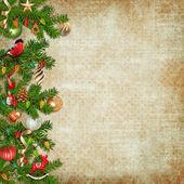 Navidad guirnalda milagrosa sobre fondo vintage — Foto de Stock