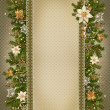 Christmas miraculous garland on vintage background — Stock Photo