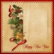 Beautiful vintage background with Christmas decorations — Stock Photo