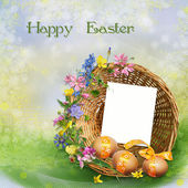 Easter greeting card — Stockfoto