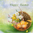 Easter greeting background — Stock Photo