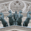 The Quadriga on the Bolshoi Theatre — 图库照片