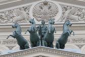La quadriga sul teatro bolshoi — Foto Stock