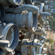 Irrigation pipes - Stock Photo