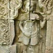 Stock Photo: Detail of carvings in angkor thom,UNESCO world heritage,cambodia