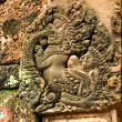 Carvings at Banteay Srey temple — Stock Photo