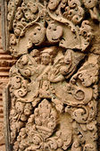 Detail of the ancient stone sculpture in Angkor Wat. Cambodia. — Stock Photo
