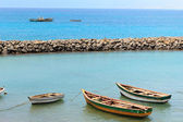 Tekne sal santa maria cape verde — Stok fotoğraf
