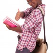 Stock Photo: College student young African American