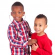 Black African American child with stethoscope — Stock Photo #22687407
