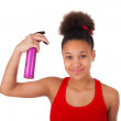 Afro-American young woman with afro hair — Stock Photo