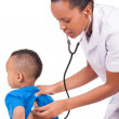 African american woman doctor with child — 图库照片
