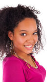 Young african american woman with long hair — Stock Photo