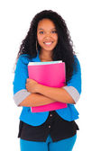 Portrait of smiling African American female student — Stock Photo