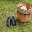 Pilgrim Shoes — Stock Photo