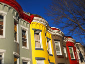 City Living in Row Homes — Stock Photo