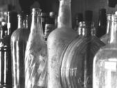 Vintage Glass Bottles Background — Stock Photo