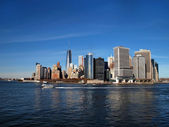 Lower Manhattan Along Waterfront — Stock Photo