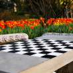 Chess In The Garden — Stock Photo