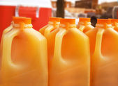 Orange Juice Jugs — Stock Photo