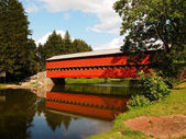Sauck's Covered Bridge And Reflection — Stock Photo