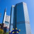 The Famous Big Euro Sign at the European Central Bank — Stock Photo